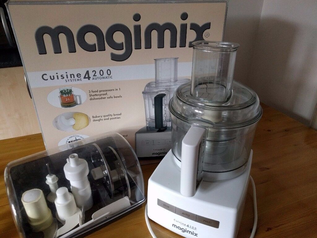 magimix cuisine systeme 4200 food processor complete with accessories in carmarthen. Black Bedroom Furniture Sets. Home Design Ideas