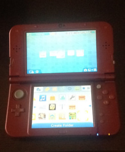 Nintendo new 3DS XL in red