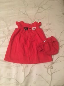 Girl's 6-12 Month Gymboree Red Dress & Diaper Cover