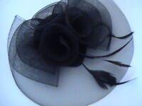 Ladies black flower design fascinator
