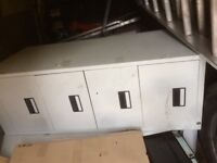 3x 4 drawer filing cabinets
