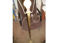 standard lamp- brass effect-5ft tall approx- claw feet