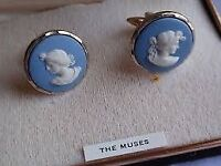 The Muses Vintage Wedgwood cuff links