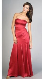 ---->Sexy BCBG Red Strapless Gown Size 0 *Best Offer*