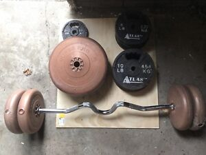 Weights and Curling bar