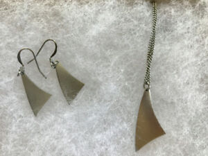 Pewter Necklace and Earrings
