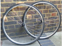 Handbuilt Hewitt Cycles 11 speed road bike wheelset DRC ST17 + Shimano RS400 + Michelin Pro 3 tyres