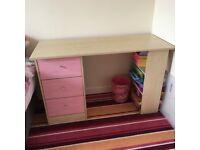 Girls desk and bedside cabinet