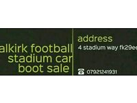 Falkirk football stadium car boot sale every Sunday