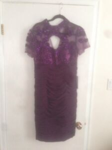 Purple special occasion dress