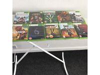 10 x Xbox 360 games