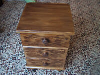 3 drawer small cabinet darkwood finish suitable for upcycling