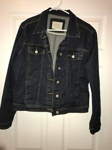Women's XL dark wash jean jacket