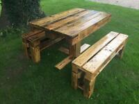 New handmade Outdoor table and benches
