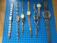 Job Lot Of Watches Mixed & Untested LADIES for spares & repair signs of wear
