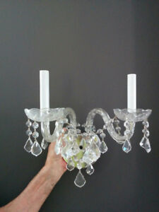 Crystal wall sconces (2)