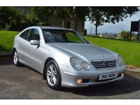 2004 MERCEDES C220 CDI COUPE AUTO-ONLY 80,000 WARRANTED MILES-LADY OWNER LAST 12 YEARS-£1450 ONO