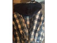 Boys 8-9 fat face shirt with hood