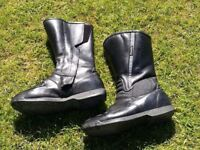 Ladies motorcycle boots and gloves