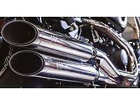 Kern slip-on exhaust for Harley-Davidson Dyna Fat Bob (FXDF) 2008-onwards, 117dB