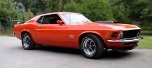 1970 FORD MUSTANG BOSS 429......DIE CAST CAR.........MINT