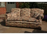 Three seater traditional sofa