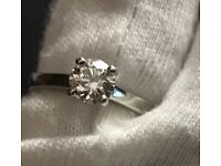 Diamond engagement ring 0.56ct vvs2 clarity with certificate