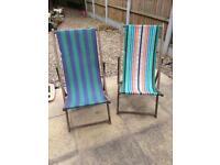 Retro Wooden deckchairs