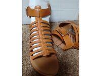 Tan Women Gladiator Style Sandals