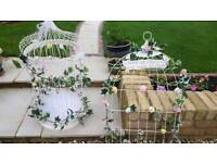 Wedding bird cage and table plan