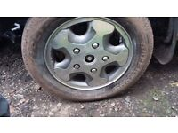Ford transit genuine 16 inch alloy wheels + tyres