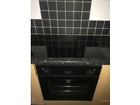 Black Ceramic hob and intergrated oven