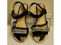 flat diamante sandals