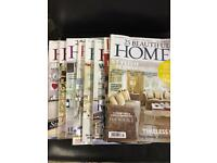 """Selection of """"Beautiful Home"""" magazines"""