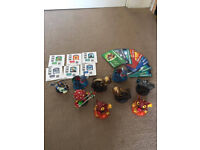 SkyLanders x9 with cards and stickers