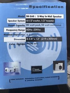 7 in wall speakers (brand new)