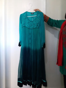 Aqua Green Traditional Dress