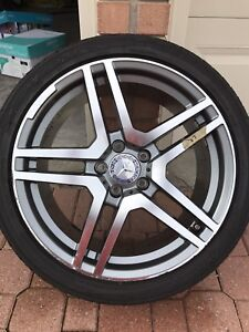 "Mercedes Benz 18"" AMG replica alloy wheels and tires for sale"