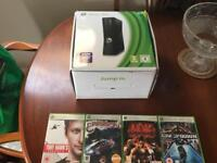 New XBox 360 w/4 games