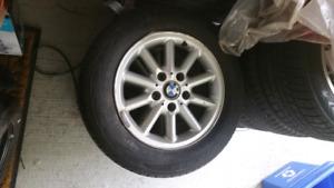 BMW 3-Series 15inch Wheels + Steelie Spare