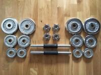 York 20kg dumbell set