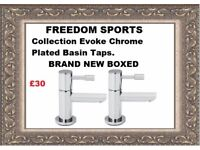 Collection Evoke Chrome Plated Basin Taps Brand New Boxed