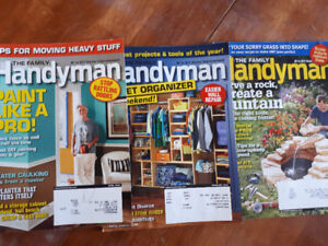 lot of 13 fine woodworking, handyman and woodcuts magazines