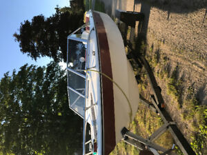 18ft boat, motor and trailer