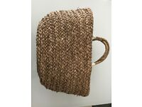 Fully Lined Double Handle Straw Beach Bag From Next - Perfect For Town Or Beach!