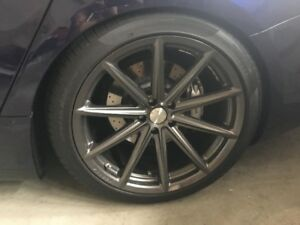 MASERATI GHIBLI STAGGERED VOSSEN RIMS AND TIRES
