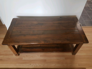 Locally built rustic coffee table