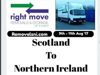 Lorry Travelling to Northern Ireland from Scotland Glasgow Edinburgh Belfast Coleraine Removal Van