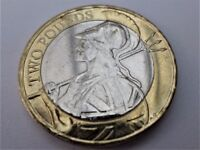 MOST SCARCE - 2015 - Britania Two Pound Coin - Print Abnormality
