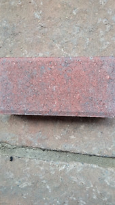 Rustic red interlocking stone